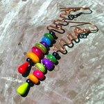 Colorful Copper Squiggles By Cheryl Brumfield-Knox