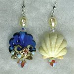 Sea Shell earrings An exercise in asymmetrical design By Cheryl Brumfield-Knox