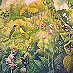 Ruby Throated Bulbuls and Orchids By Meenakshi Subramaniam