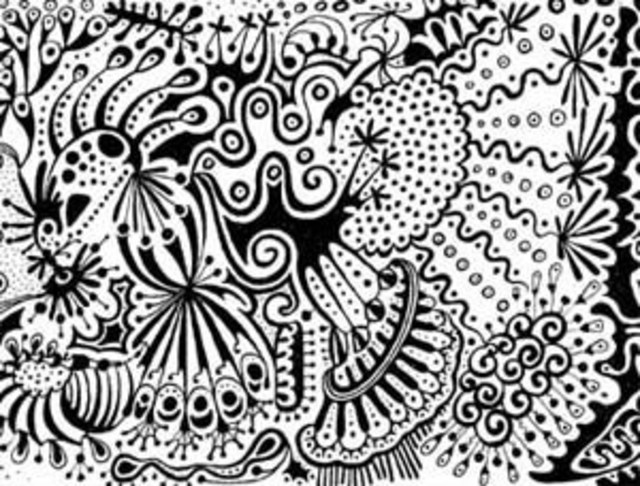 Baillot Dominique  'Maelstrom III', created in 2011, Original Drawing Pen.
