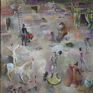 Artist: Radish Tordia - Title: Circus - Medium: Oil Painting - Year: 1990