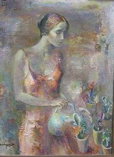 Radish Tordia Artwork Morning, 2000 Oil Painting, Figurative