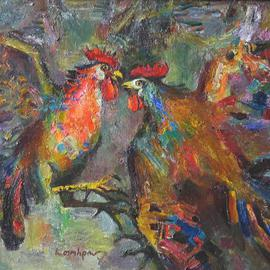 Roosters By Radish Tordia