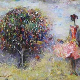 Radish Tordia: 'Wish Tree', 2011 Oil Painting, Figurative.