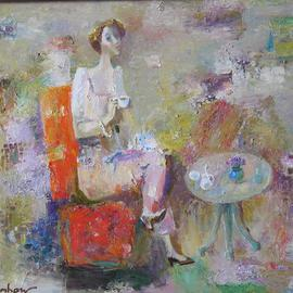 Woman in Red Armchair By Radish Tordia