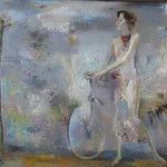 Woman with Bicycle By Radish Tordia