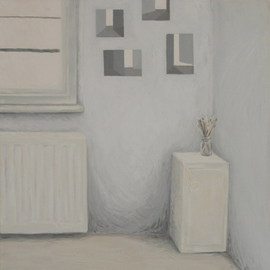 Andrea Kollar: 'Pictures', 2010 Oil Painting, Interior.