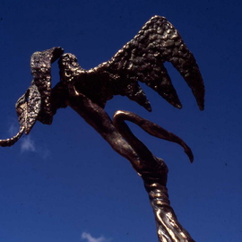Ivan Kosta: 'Angel of Hope', 1999 Bronze Sculpture, Abstract Figurative. Artist Description:  An angel with wings spread to ascend ...