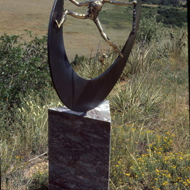 Ivan Kosta Artwork Breaking The Circle, 1995 Mixed Media Sculpture, Abstract