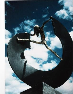Ivan Kosta: 'Breaking The Circle', 1995 Mixed Media Sculpture, Abstract Figurative.  see