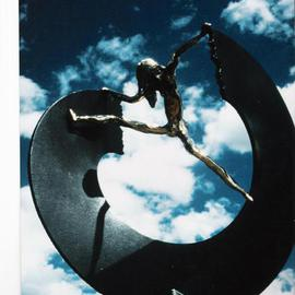 Ivan Kosta: 'Breaking The Circle', 1995 Mixed Media Sculpture, Abstract Figurative. Artist Description:  see
