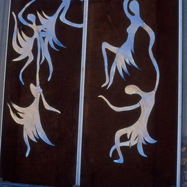 Ivan Kosta: 'Dancing Muses Door', 2003 Steel Sculpture, Abstract Figurative.