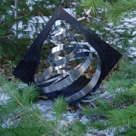Ivan Kosta: 'Evergreen', 2010 Steel Sculpture, Abstract. Artist Description:  Image of a stainless steel evergreen tree  ...