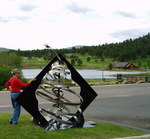 Artist: Ivan Kosta, title: Evergreen, 2009, Sculpture Steel