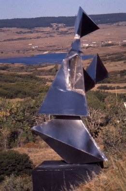 Ivan Kosta: 'Mother and Child', 1998 Steel Sculpture, Abstract.  Image of a mother tenderly holding her newborn child. . . ...