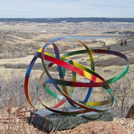 Ivan Kosta: 'Rebus Infinitus', 2011 Steel Sculpture, Abstract. Artist Description:   A colorful ribbon with no beginning or end undulating in space,   ...