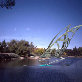 Ivan Kosta: 'Ship Ahoy ', 2010 Steel Sculpture, Abstract. Artist Description:    A sailboat taking off to distant shores. .    ...