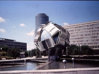 Ivan Kosta: 'The Knowledge Globe', 2002 Steel Sculpture, Abstract.  A Globe formed by joined open books ...