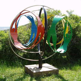 Ivan Kosta: 'Wellness Globe', 2008 Steel Sculpture, Abstract Figurative.
