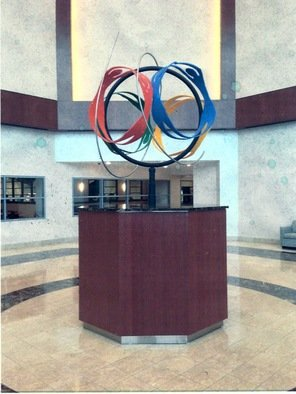 Steel Sculpture by Ivan Kosta titled: Wellness Globe in DelNor Hospital Lobby, 2009