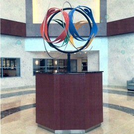Ivan Kosta: 'Wellness Globe in DelNor Hospital Lobby', 2009 Steel Sculpture, Abstract. Artist Description:   Four pairs of human figures, holding each other by hands and feet, rotating as a globe. . .       ...