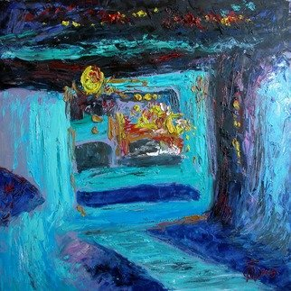 Evgeny Kovalchuk Artwork night in gurzuf, 2008 Oil Painting, Abstract Landscape