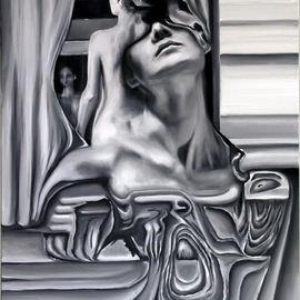 Igor Shatskov Artwork Black and white imaginations, 2010 Oil Painting, Surrealism