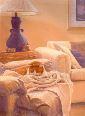 Kay Ridge Artwork Comfort, 2003 Pastel, Cats