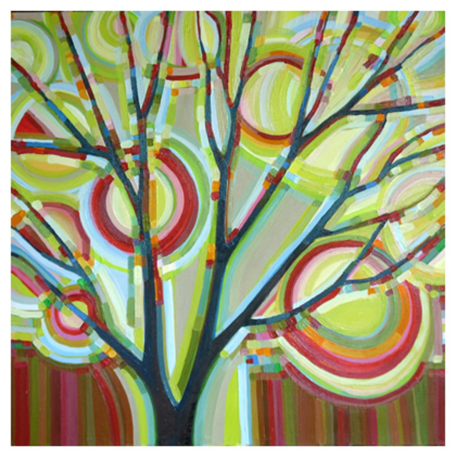 Kristi Taylor  'Sunlit Tree No 8 Autumn', created in 2010, Original Painting Acrylic.