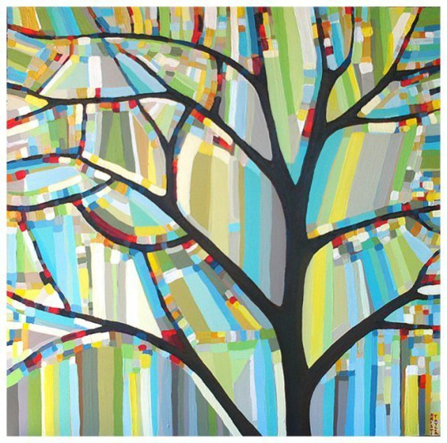 Kristi Taylor  'Tree View  No 33', created in 2009, Original Painting Acrylic.