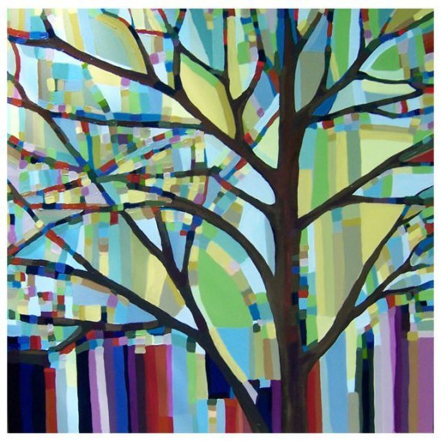 Kristi Taylor  'Tree View No 30', created in 2008, Original Painting Acrylic.