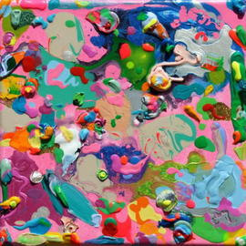 Kristina Zallinger Artwork COTTON CANDY, 2009 Acrylic Painting, Abstract