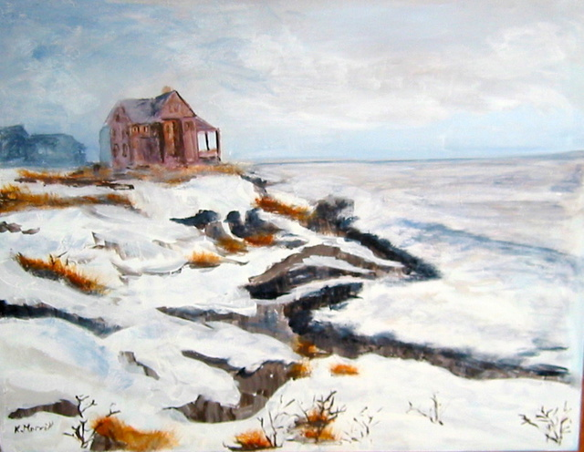 Kristin Morrill  'Westerly Coast In Winter', created in 2011, Original Painting Oil.