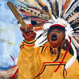 powwow dancer By Kristin Morrill