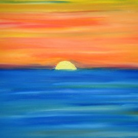 Krum Peev: 'sunrise', 2020 Oil Painting, Sea Life. Artist Description: Beautiful landscape from Black Sea. Paint only with fingers from artist Krum Peev in 2020 Technique oil painting on canvas. Picture signed unframed. ...