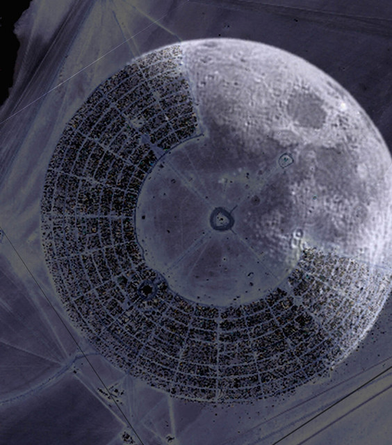 Kate Storm  'Burning Man Black Rock White Moon', created in 2007, Original Photography Other.