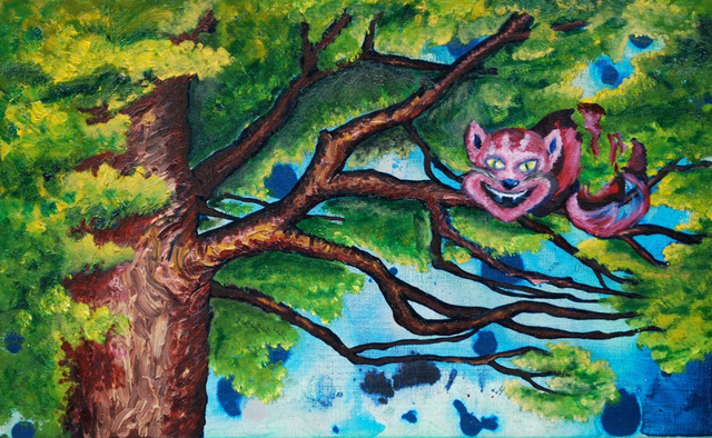 Kelsey Sweet  'Cheshire Cat', created in 2011, Original Painting Other.