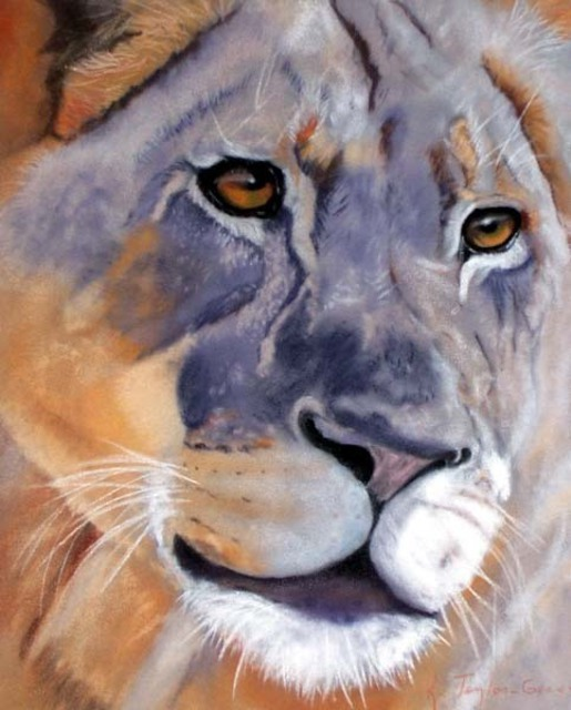 Katherine Taylorgreen  'Out Of Africa', created in 2006, Original Pastel.