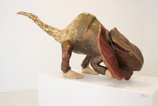 Katrina Brooks: 'Chimera', 2010 Mixed Media Sculpture, nature. Artist Description:  Cardboard, plaster, steel, leather, acrylic  ...