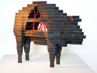 Katrina Brooks: 'Commodity no 1', 2011 Wood Sculpture, undecided. Artist Description:  licorice, wood ...