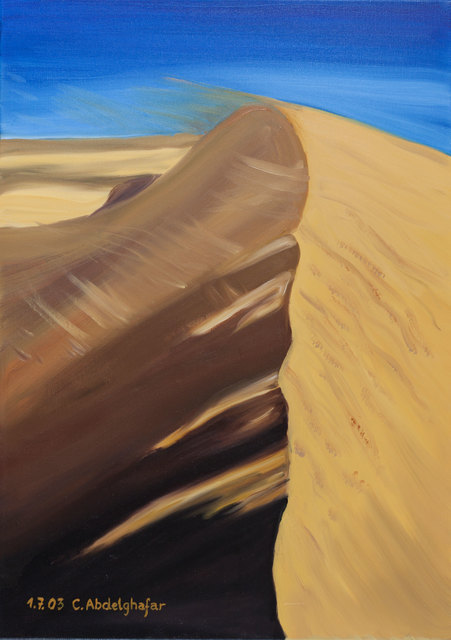 Claudia Luethi Alias Abdelghafar  'Dune Of Sand', created in 2003, Original Painting.