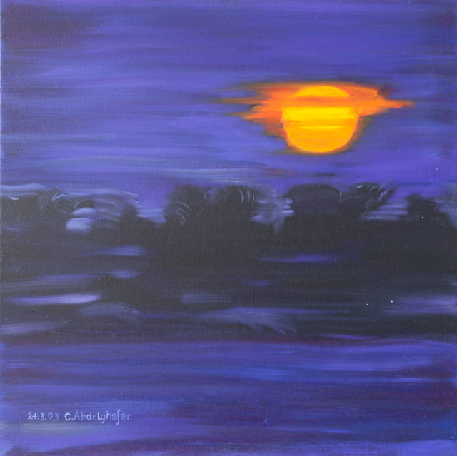 Claudia Luethi Alias Abdelghafar  'Sunset', created in 2003, Original Painting.