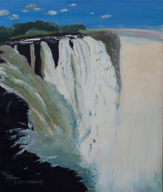 Claudia Luethi Alias Abdelghafar  'Victorian Waterfalls', created in 2003, Original Painting.