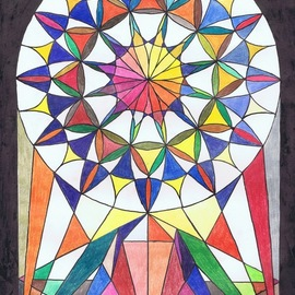 church window 2013  By Claudia Luethi Alias Abdelghafar