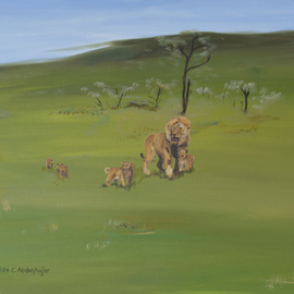 lion family  By Claudia Luethi Alias Abdelghafar
