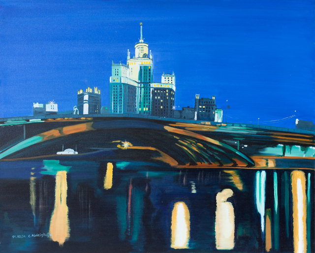 Claudia Luethi Alias Abdelghafar  'Moscow By Night', created in 2006, Original Painting.