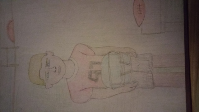 Kelson Colin  'LITTLE BOY FUTURE FOOTBALL STAR', created in 2015, Original Drawing Pencil.