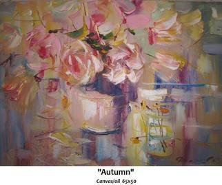 Doorov Suiorkul: 'Autumn', 2009 Oil Painting, Seasons.
