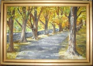 Irina Ladutko: 'OAK PATH', 2004 Oil Painting, Landscape.