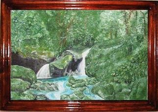 Irina Ladutko: 'TIMBER WATERFALL', 2004 Oil Painting, Landscape.
